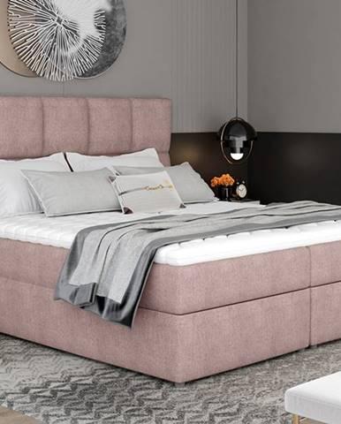 Grosio 165 čalúnená manželská posteľ s úložným priestorom ružová