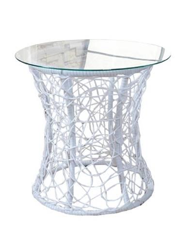 Salmar New okrúhly príručný stolík biela