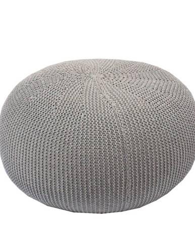 Taman Typ 2 pletená taburetka sivá