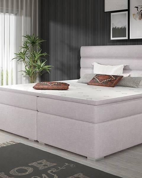 NABBI Spezia 140 čalúnená manželská posteľ s úložným priestorom svetlosivá (Sawana 84)