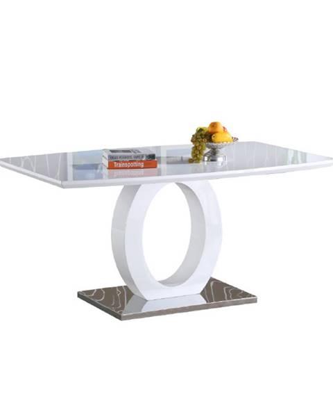 Tempo Kondela Zarni jedálenský stôl biely vysoký lesk