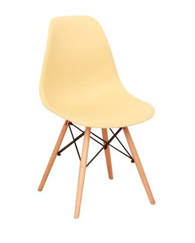Cinkla 3 New jedálenská stolička cappuccino-vanilka