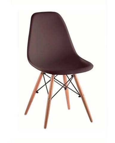Cinkla 3 New jedálenská stolička tmavohnedá