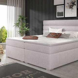 Spezia 140 čalúnená manželská posteľ s úložným priestorom svetlosivá (Sawana 84)