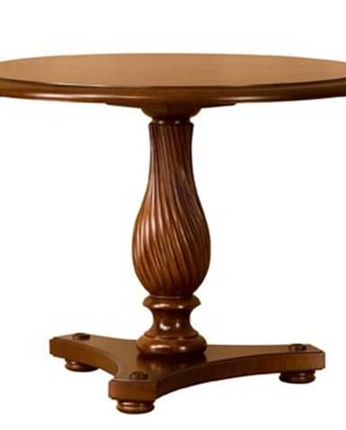 Prato ZB-3 rustikálny okrúhly jedálenský stôl višňa 02