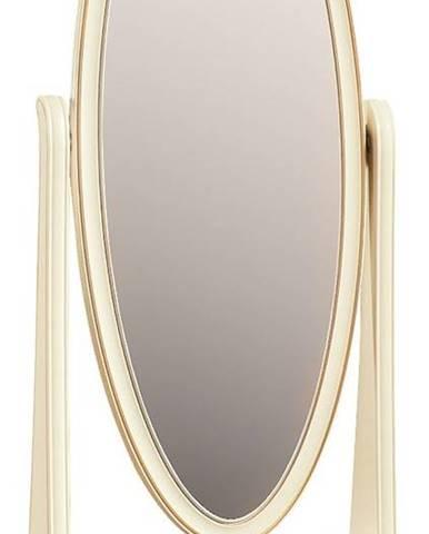 Verona V rustikálne stojace zrkadlo krém patyna
