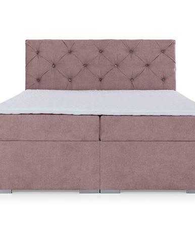 Beneto 160 čalúnená manželská posteľ s úložným priestorom ružová (Soro 61)