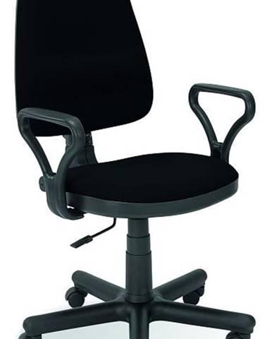 Bravo kancelárska stolička s podrúčkami čierna (C11)