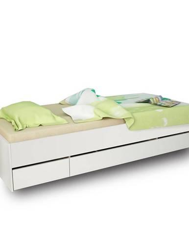Matiasi 90 jednolôžková posteľ s úložným priestorom biela