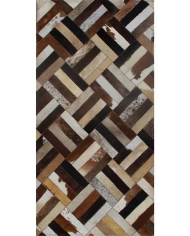 Typ 2 kožený koberec 70x140 cm vzor patchwork