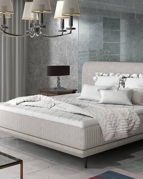 NABBI Ancona 140 čalúnená manželská posteľ svetlosivá (Orinoco 21)