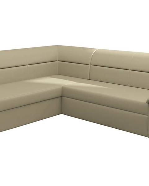 NABBI Estrela L rohová sedačka s rozkladom a úložným priestorom béžová