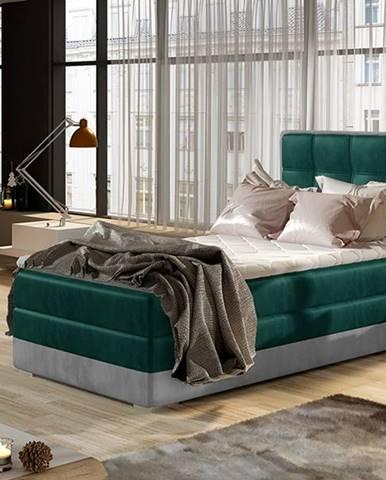 Alessandra 90 P čalúnená jednolôžková posteľ tmavozelená