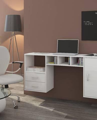 Hanger pc stolík na stenu biela