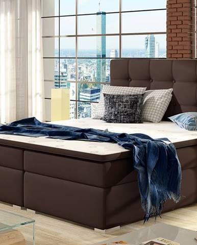 Isola 140 čalúnená manželská posteľ tmavohnedá (Soft 66)
