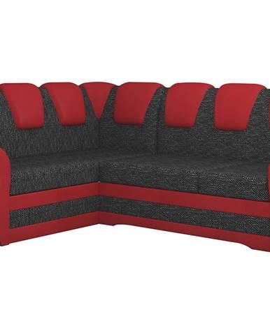 Latino II L rohová sedačka s rozkladom a úložným priestorom čierna
