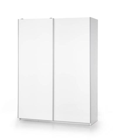 Lima S1 šatníková skriňa s posuvnými dverami biely lesk