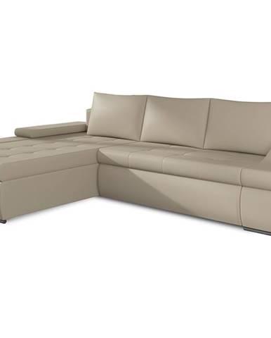 Oristano L rohová sedačka s rozkladom a úložným priestorom béžová