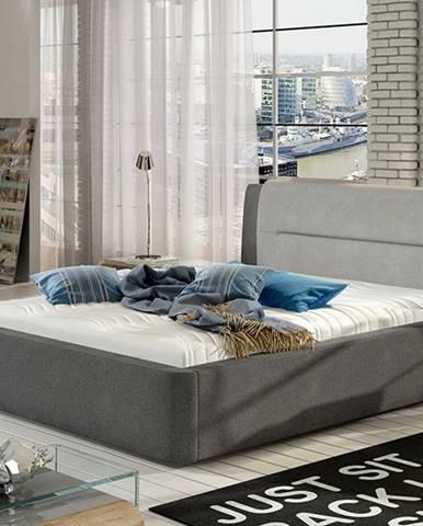 Portima 140 čalúnená manželská posteľ sivá