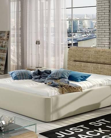 Portima 180 čalúnená manželská posteľ béžová