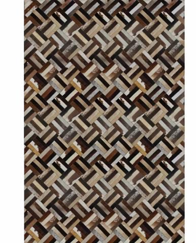 Typ 2 kožený koberec 200x300 cm vzor patchwork