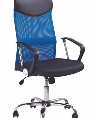 Vire kancelárska stolička s podrúčkami modrá