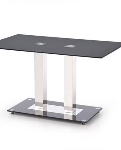 Walter 2 sklenený jedálenský stôl čierna