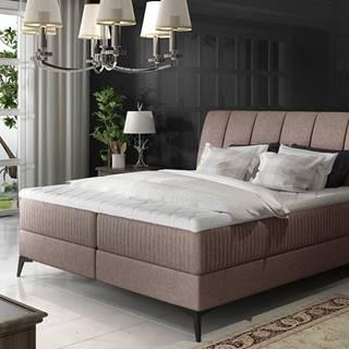 Altama 140 čalúnená manželská posteľ s úložným priestorom svetlohnedá