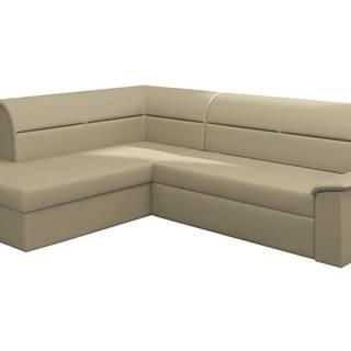 Estrela L rohová sedačka s rozkladom a úložným priestorom béžová