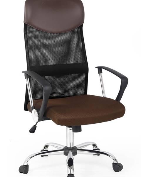 Halmar Vire kancelárska stolička s podrúčkami hnedá