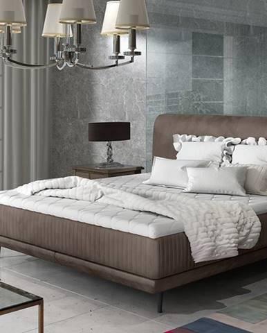 Ancona 180 čalúnená manželská posteľ hnedá
