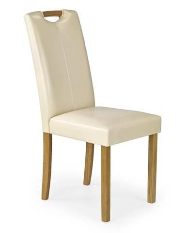 Caro jedálenská stolička krémová