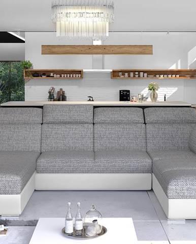 Ermo U P rohová sedačka u s rozkladom a úložným priestorom sivá (Berlin 01)