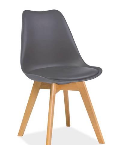 Kris Buk jedálenská stolička sivá