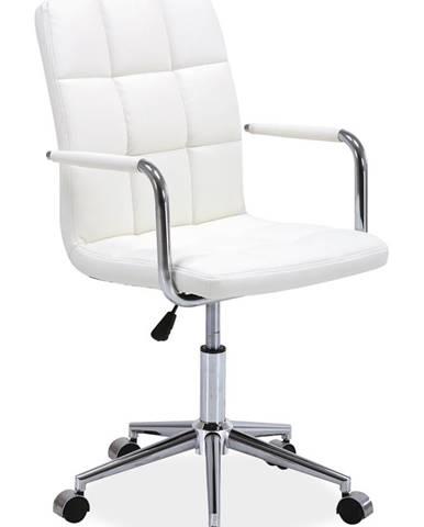 Q-022 kancelárska stolička biela