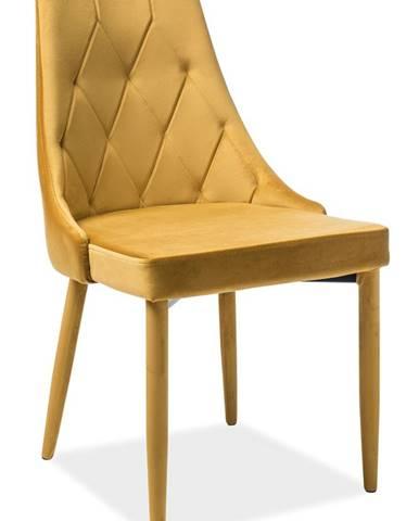 Trix Velvet jedálenská stolička kari