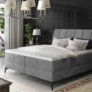 Altama 160 čalúnená manželská posteľ s úložným priestorom sivá (Jasmine 90)