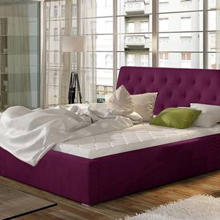 Monzo UP 200 čalúnená manželská posteľ s roštom vínová