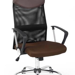 Vire kancelárska stolička s podrúčkami hnedá
