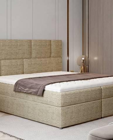 Ferine 145 čalúnená manželská posteľ s úložným priestorom cappuccino