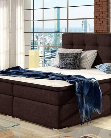 Isola 160 čalúnená manželská posteľ tmavohnedá (Sawana 26)