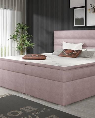 Spezia 160 čalúnená manželská posteľ s úložným priestorom ružová