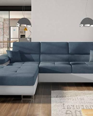 Alkazar L rohová sedačka s rozkladom a úložným priestorom modrá