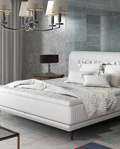 Ancona 160 čalúnená manželská posteľ biela