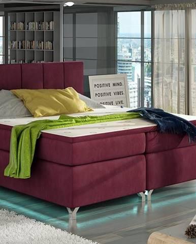 Barino 180 čalúnená manželská posteľ s úložným priestorom bordová
