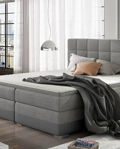Dalino 160 čalúnená manželská posteľ s úložným priestorom svetlosivá (Sawana 21)