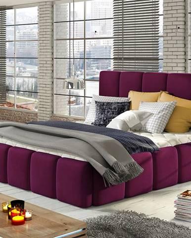 Evora 140 čalúnená manželská posteľ vínová