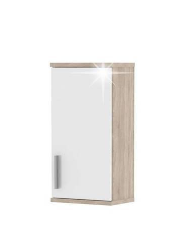 Lessy LI 4 kúpeľňová skrinka na stenu dub sonoma