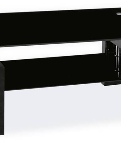 Lisa II sklenený konferenčný stolík čierna