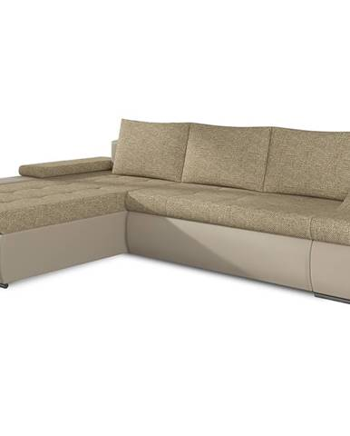 Oristano L rohová sedačka s rozkladom a úložným priestorom cappuccino